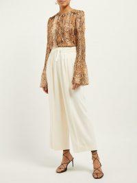 DIANE VON FURSTENBERG Rohini python-print silk blouse | Matches Fashion