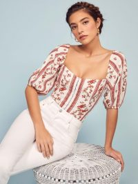 Reformation Romi Top in Vienna | low sweetheart neckline tops