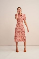 Rouje Paloma dress in Tournesol Rose | pink vintage style frock