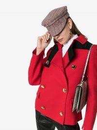 Ruslan Baginskiy Multicoloured Check Wool Baker Boy Hat / hats / caps / accessories