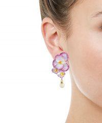 JENNIFER BEHR Sadira Floral Drop Earrings | bold flower jewellery