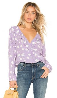 Sanctuary Jules Ruffle Wrap Blouse Hello Spring | frill trimmed plunging top