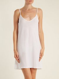 SKIN Scoop-neck pima-cotton jersey slip dress | Matches Fashion