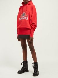 VETEMENTS Secret Society cotton hooded sweatshirt | Matches Fashion
