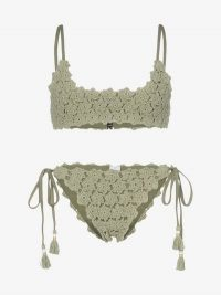 She Made Me Maalai Crochet Bikini in green | knitted bikinis