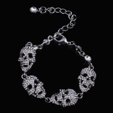 Skull bracelet – Tutu's Jewellery - flipped