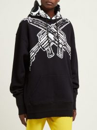 VETEMENTS Skull-print cotton hooded sweatshirt | Matches Fashion