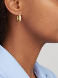 Matches Fashion PATCHARAVIPA Slice Rope 18kt gold and diamond earrings