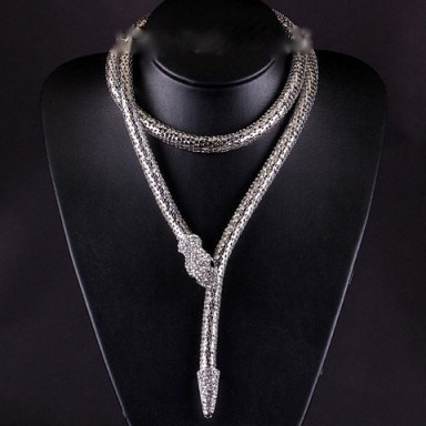 Snake necklace – Tutu's Jewellery - flipped