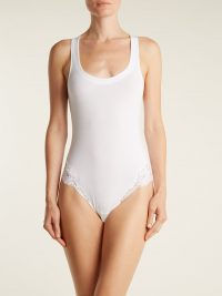 LA PERLA Souple lace-trimmed jersey bodysuit | Matches Fashion