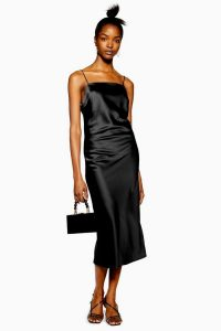 Topshop Square Neck Slip Dress in Black | LBD | thin strap dresses