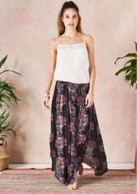The Dressing Room STAR MELA PATI MAXI SKIRT – MULTI – long super soft maxi skirt