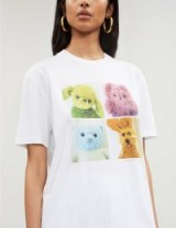 STELLA MCCARTNEY Fur Free cotton-jersey T-shirt in white / cute printed tee