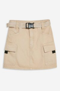 TOPSHOP Stone Mini Denim Skirt. NEUTRAL UTILITY SKIRTS