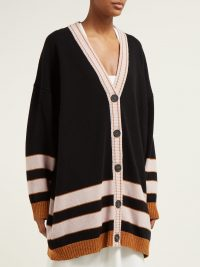 LOEWE Striped wool cardigan ~ slouchy button up cardi