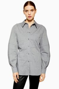 Topshop Boutique Structured Shirt in Grey