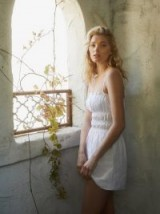 Reformation Tabatha Dress in White | smocked summer mini
