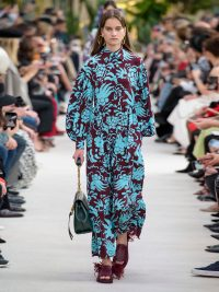 VALENTINO Tapestry-print silk-crepe dress | Matches Fashion