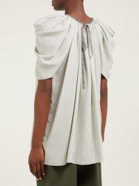THE ROW Taya silk-georgette blouse in grey