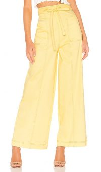 The East Order Goldie Pant in Lemon   yellow wide leg trousers   spring colours