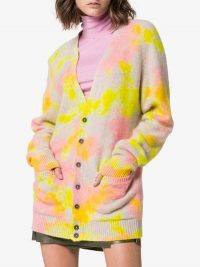The Elder Statesman Tie-Dye Pocketed Cashmere Cardigan / colourful cardi