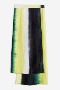 TOPSHOP Tie Dye Pleated Skirt By Boutique / asymmetric hemline