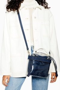 Topshop Transparent PU Denim Cross Body Bag in Clear | small crossbody