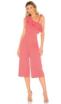 Tularosa Belle Jumpsuit in Coral | cut-out jumpsuits