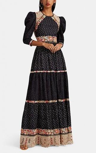 ULLA JOHNSON Embroidered Linen-Cotton Maxi Dress | modern prairie