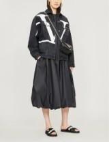 Women's designer casual jackets ~ VALENTINO Go Logo oversized denim jacket in black