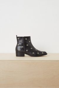 FRENCH CONNECTION VALERA EYELET ANKLE BOOTS Black