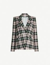 VERONICA BEARD Miller Dickey woven jacket in pink multi / tailored checked jackets