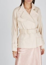 VINCE Blush twill jacket ~ luxe trench jackets
