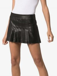 We11done Pleated Faux-Leather Mini Skirt in Black