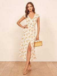 Reformation Wellfleet Dress in Limonada | cut-out back sprint dresses