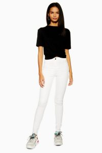 Topshop White Holding Power Joni Jeans | super skinny ankle grazers