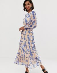 Y.A.S floral printed prairie dress | frill hem dresses