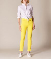 Karen Millen Yellow Skinny Jeans ~ summer denim ~ casual day look