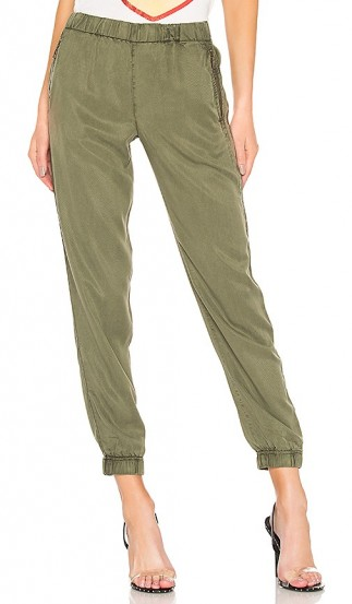 green cuffed trousers | YFB CLOTHING Martino Pant in Palm
