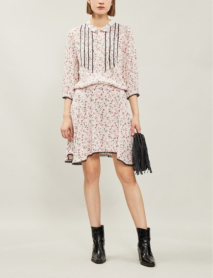 ZADIG&VOLTAIRE Raspail floral-print woven mini dress in petal - flipped