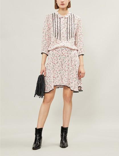ZADIG&VOLTAIRE Raspail floral-print woven mini dress in petal