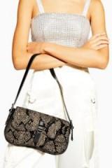 Topshop Zambia Shoulder Bag | small snake print bags