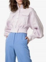 Zimmermann Ninety-Six Blouson Sleeve Jacket in lilac / pastel balloon sleeved jackets