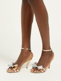 ISABEL MARANT Adree metallic-leather sandals in rose gold | luxe party heels