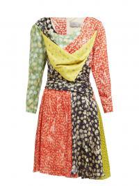 PREEN BY THORNTON BREGAZZI Adriana floral-print silk-blend mini dress / mixed florals