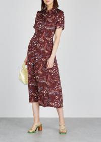 ALEXACHUNG 500 Days of English Summer shirt dress / seaside and slogan prints