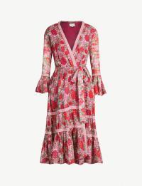 ALEXIS Marcas floral-print cotton dress in fuchsia / wrap dresses