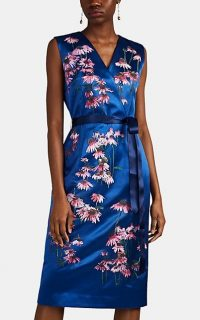 ALICE ARCHER Iola Floral-Embroidered Satin Dress