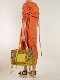 LOEWE Anagram woven leather tote bag | Matches Fashion