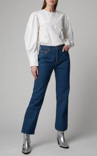 B SIDES Arts Mid-Rise Straight-Leg Jeans in dark wash
